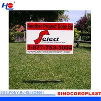 """H"" Metal Stake Printed Outdoor Coroplast Signs"