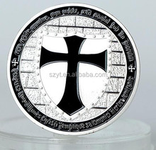 Knight Black Cross Metal Souvenir Coin