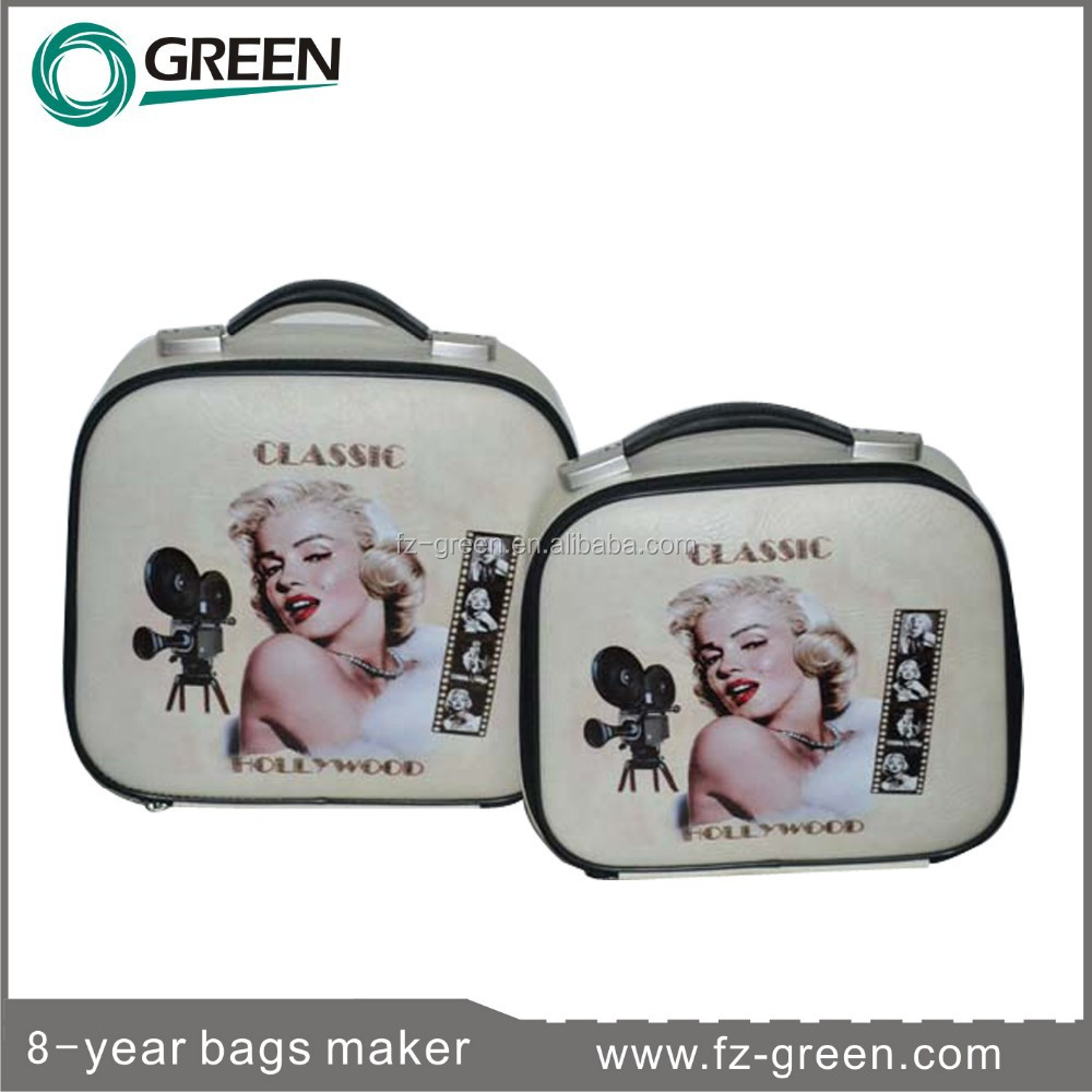 PU Material 2015 Cosmetic Bag Makeup Train Case