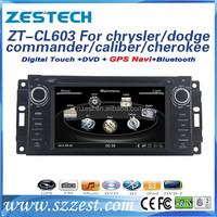 ZEST factory touch screen car radio for Chrysler/Jeep dodge/Commander/Caliber/ Grand cherokee car dvd radio gps navigation BT TV