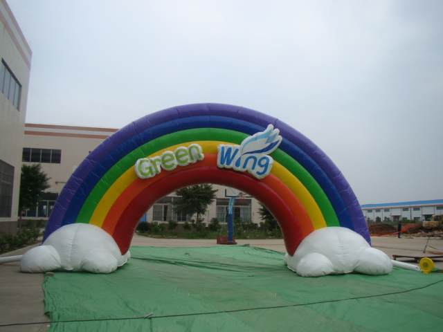 Inflatable Rainbow Arch Gate/Wedding arch/Advertising Inflatable Arch Rental
