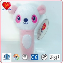 Stuffed plush animal baby doll with rattle (PTAL0816509)