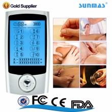 Sunmas CE ROHS FCC ISO13485 handheld 10 mode pain relief pure wave electrical stim unit