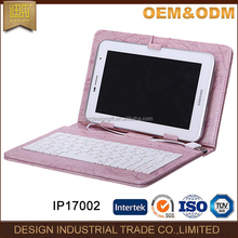 Adjustable 7 inch loptop tablet keyboard case with usb data cable
