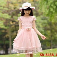 Hot sale summer new baby girl party dress children frocks designs organza dresses