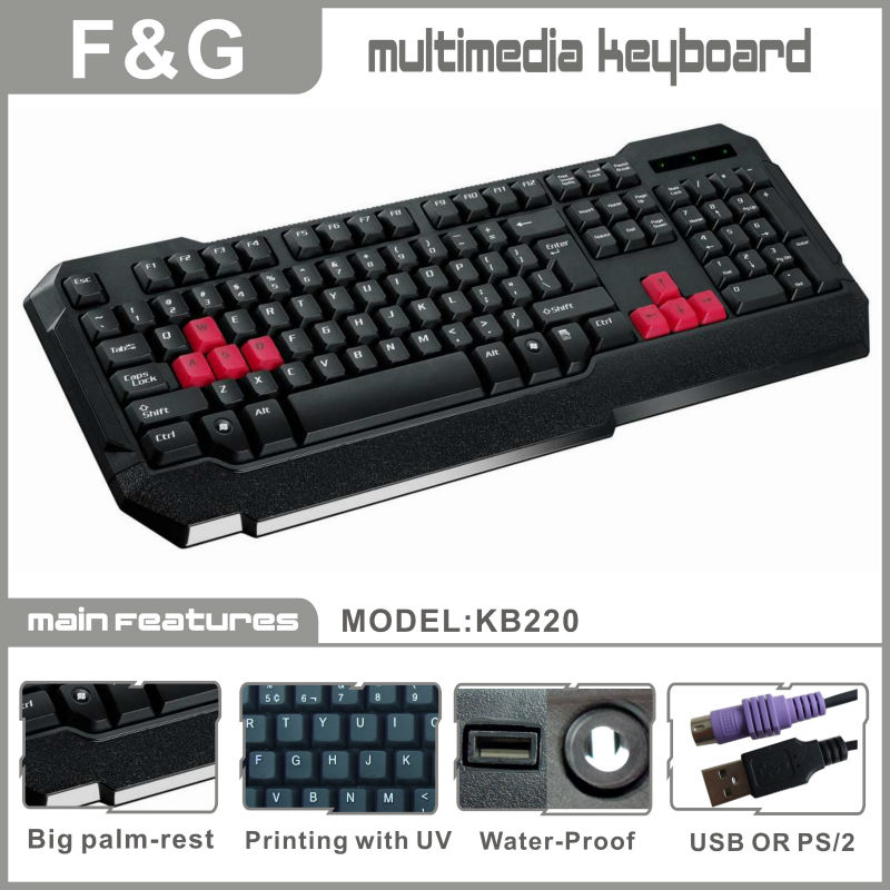 2013 best selling keyboard with big plam-rest design