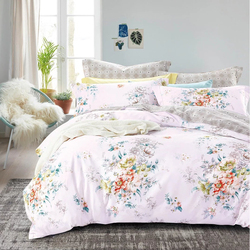 Indian three piece cotton high quality printed bedding set