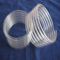 Hot selling high purity clear quartz coil for heater