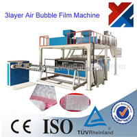 three layers co-extrusion air bubble film making machine manufactures