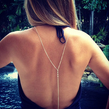 B21690A Hot sale Sexy Summer clothing accessories street fashion crystal necklace body chain