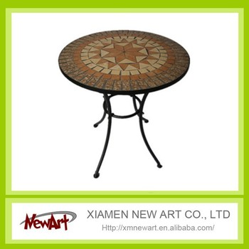 Classical Antirust Metal Outdoor wrough iron dinner table
