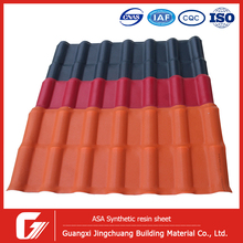 China Sun Proof PVC Roofing Sheet synthetic spanish roof tile