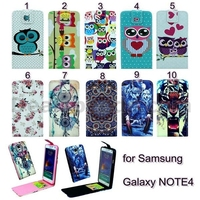 New Arrived Cross Texture Vertical Flip Magnetic TPU+PU Leather Case for Samsung Galaxy Note 4 N910