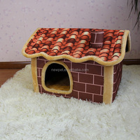 Processing customized hot-sale fine oxford cloth chimney bed best-seller cardboard dog house