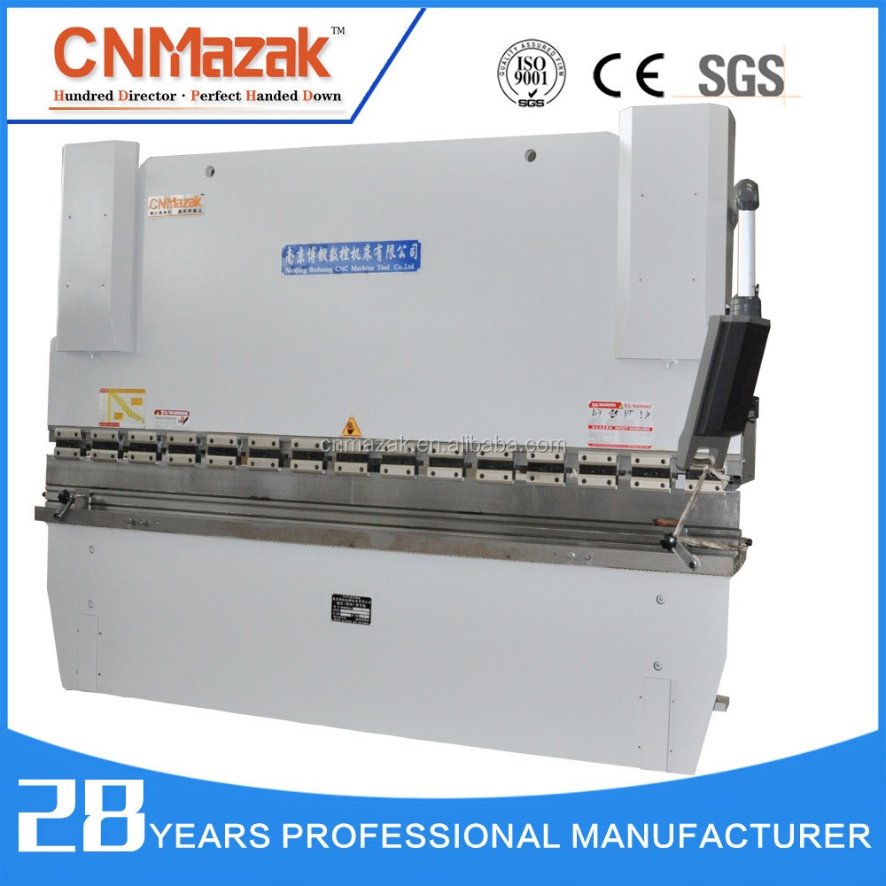 CNMazak Brand 2 axis 63 ton CNC Bending Machine 3200mm with Delem DA41 CNC Control/Y X - axis Laser WC67k-600T5000