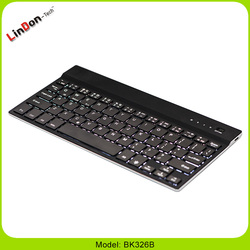 hot selling 7 color backlit Aluminum Mini Bluetooth wireless keyboards black