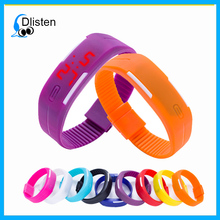 Digital Silicone Wristband Watch Silicone Watch Band LED Sports Wrist Watch with Elegant Design