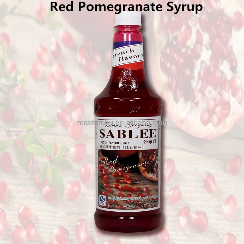 SABLEE red pomegranate syrup for juice concentrate with HALAL 900ml
