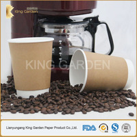250 ml Dual wall White and Kraft Paper Hot Cups