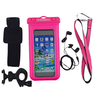 pvc waterproof cellphone bag/waterproof smartphone cases for cell phone