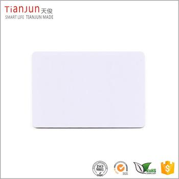Read/writable printable 125khz pvc blank rfid card