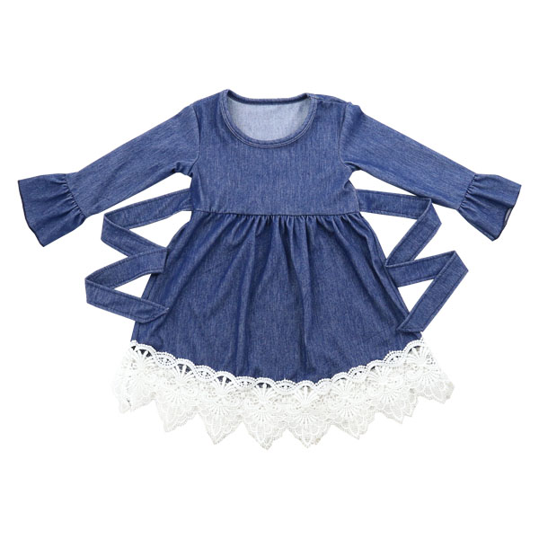 2016 High Quality New Model 3 Years Old Kids Child Girl Beautiful Wholesale Denim Dress