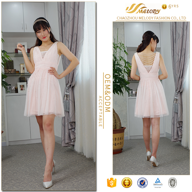 Newest three-dimensional cutting design thin breathable korean new model girls dress