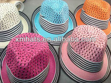 cheap colorful ladies fashion fedora hat for promotion