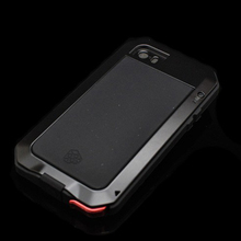 Luxury Shockproof waterproof phone case for iphone 8 samsung Armor Aluminum Metal Cover Gorilla Glass Hard Cover
