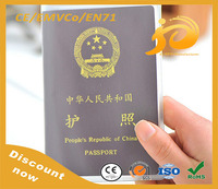 Factory selling customized Clear plastic passport card sleeve