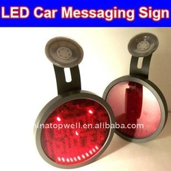 Wireless English LED Car Message Display