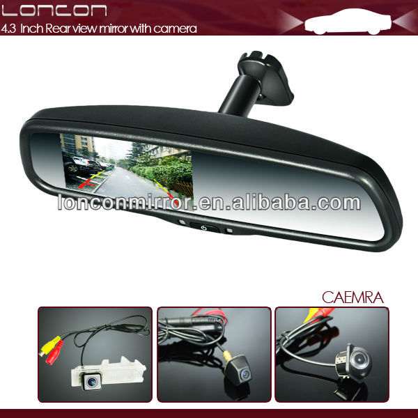 4.3 inch High Resolution Auto Electric Rear view Mirror With Camera for Parking