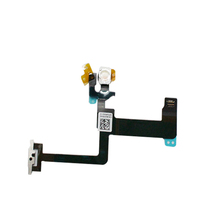 Power Flex Cable for iPhone 6 Plus 5.5'' On Off Button Microphone + Flash With Metal Bracket Replacement Parts