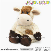 cheap soft stuffed plush cute custom knitted cow toys