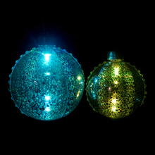 silver christmas hanging decorations painted glass ball christmas ornaments