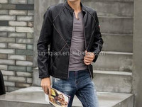 guangzhou factory double face leather coat classic leather jacket