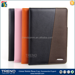 Made in china two tone color stand leather case cover for ipad mini