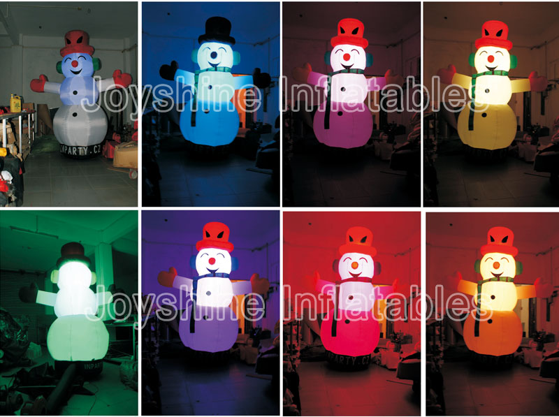 Outdoor Advertising Inflatables LED Lighting Pillar Cones Snowman Tube Balloon Decoration Inflatable LED Light Cone For Sale