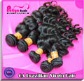 Alibaba Wholesale Top quality 6a Natural Wave virgin brazilian black hair clip ponytail