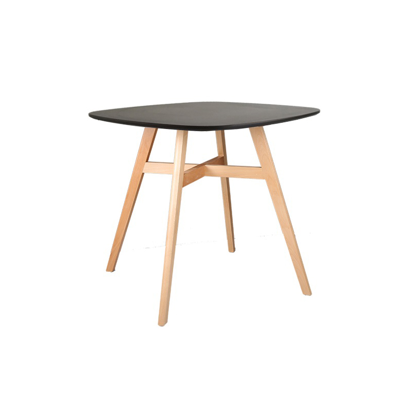 New Design Modern Nature MDF Veneer Solid Wood Dining Table