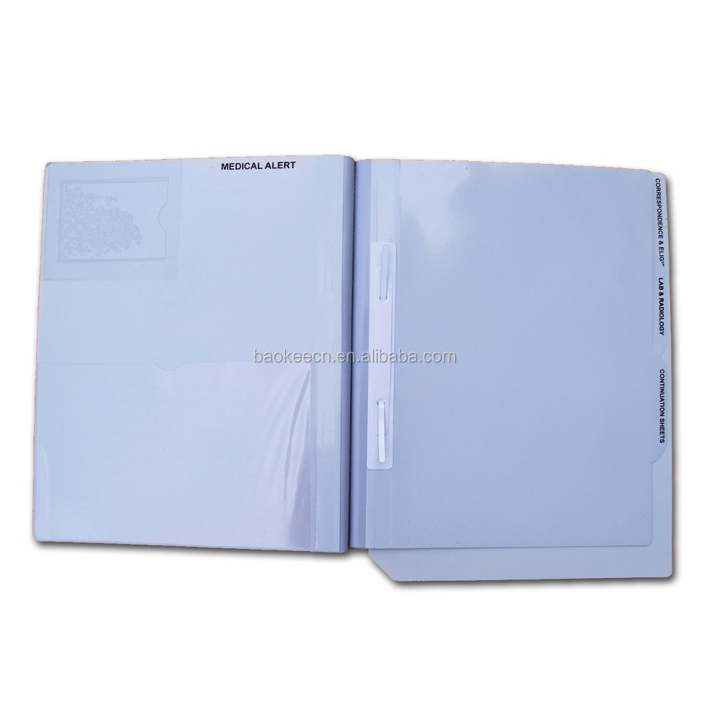 (BLY8-2015PPMF)Dividers File Folder, Medical Plastic File