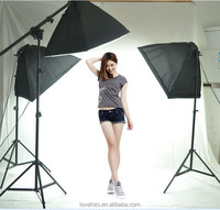 Photo light Set Fancier photographic studio Studio Video Kit With Stand+10x12ft Muslin Backdrop+Studio Umbrella+carry bag