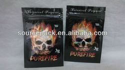 3g Pure Fire Herbal Incense Bags/Pure Fire Herbal Incense Bag with tear gas