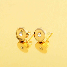 Wholesale 2016 Simple Latest Gold Stud Earring Base