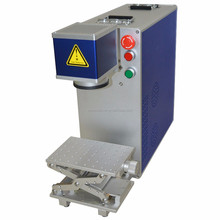 portable 10w 20w fiber laser metal marking machine