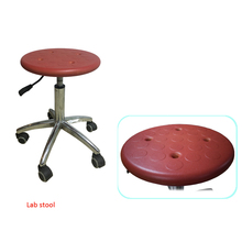 Movable Stainless Steel Lab Stool With Wheels