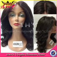 Wholesale cheap virgin human hair body wave doll wig for black woman