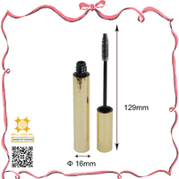 Golden cover high quality mascara tube container