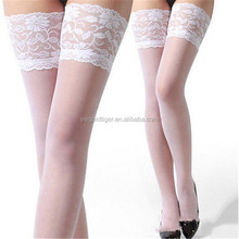 Girl's beauty sex transparent upscale white color high stocking