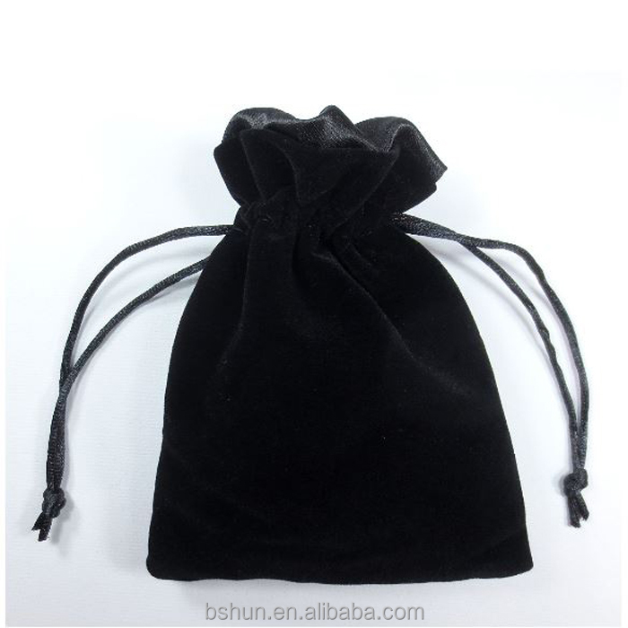 Custom Velvet Drawstring Dust Cosmetic Pouch Bag With Strong Satin Lining And Logo Printing